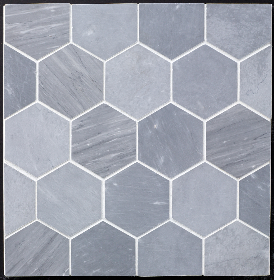 Beltile Grey Bardiglio Marble Hexagon 4 Quot Honed 4