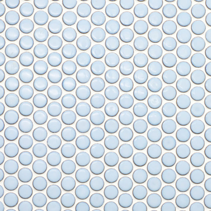 Beltile Light Blue Penny Round Porcelain Mosaic 3 4 Inch Tile And Stone Including Hexagon Subway