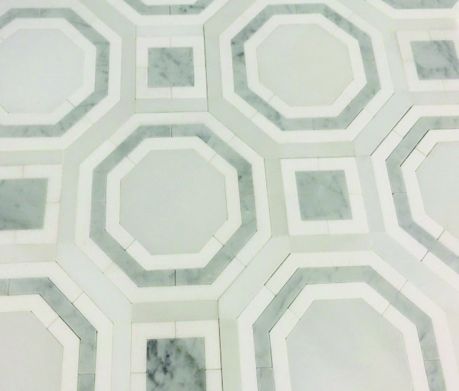 Beltile Opus Sectile Large Format Thassos And Carrara