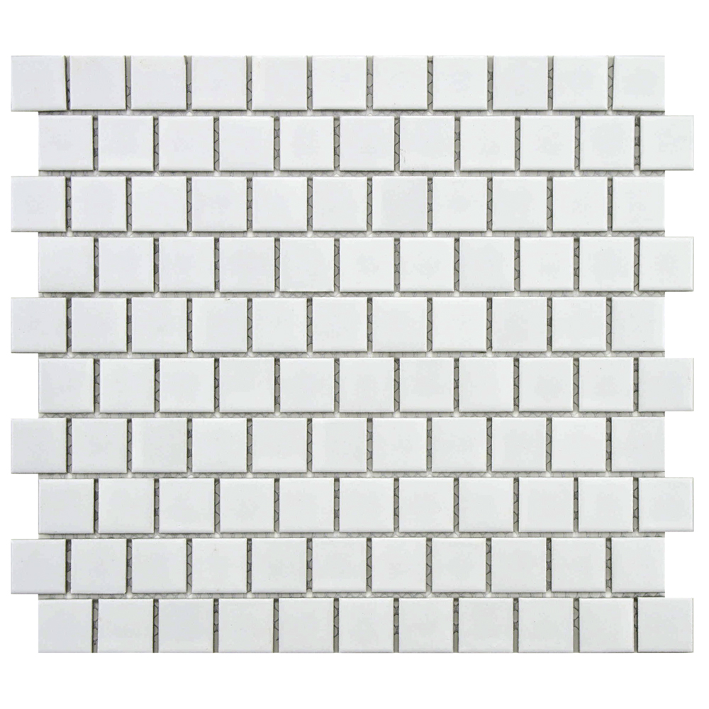Beltile colonial matte white porcelain mosaic 1x1 offset pattern beltile colonial matte white porcelain mosaic 1x1 offset pattern 1x1 beltile tile and stone including hexagon tile and subway tile dailygadgetfo Image collections