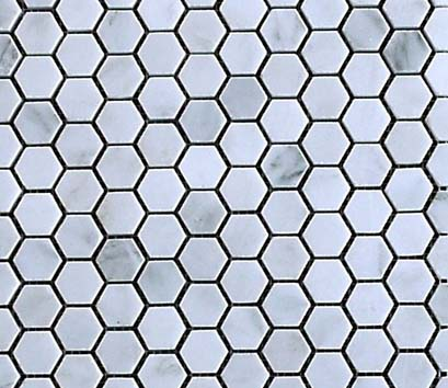 Beltile Eastern White Hexagon Polished 1 Inch 1 Inch
