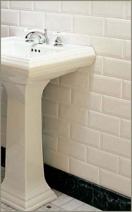 Beltile Metro Beveled Edge Subway Tile 3x6 White Glossy