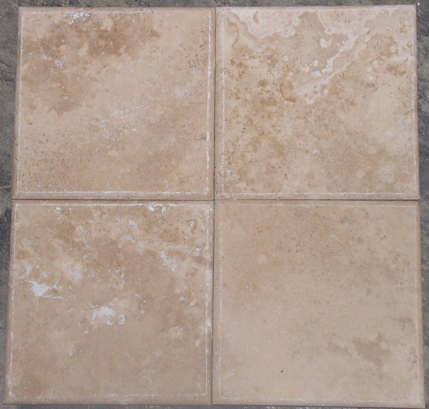 Beltile Durango Pillowed Travertine 6x6 6x6 Beltile
