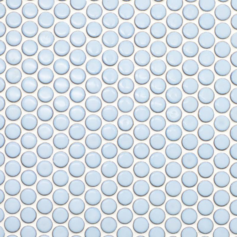 Beltile Light Blue Penny Round Porcelain Mosaic 3 4 Inch
