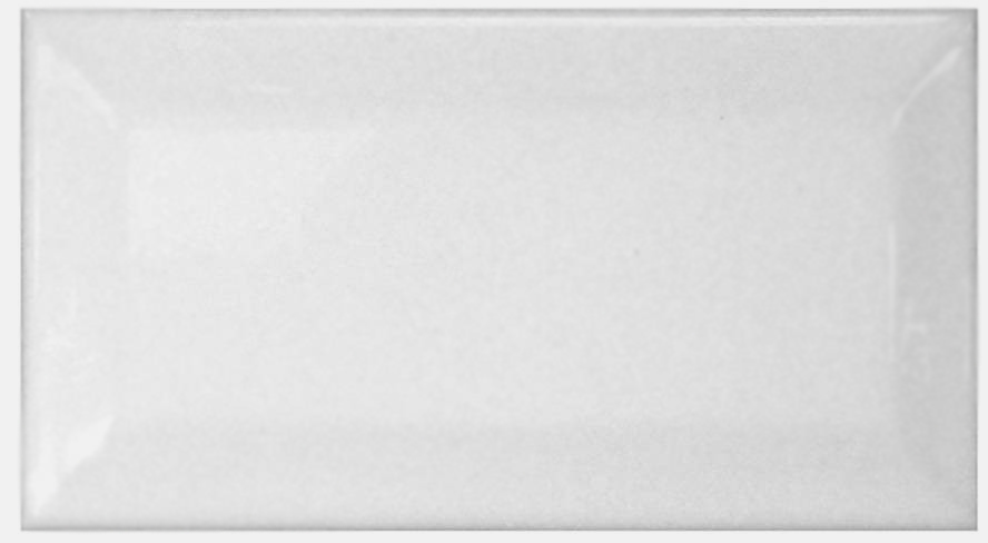 Beltile Metro Beveled Edge Subway Tile 3x6 Matte White